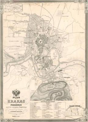 План Кракова з Подгуже і найближчими околицями