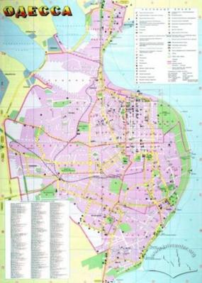 Odessa. Tourist map