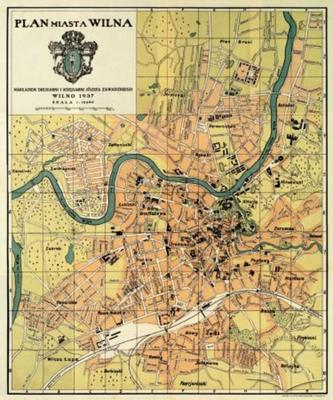 Map of the City of Vilnius