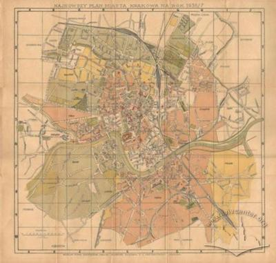 The Newest Map of the City of Krakow of 1936/7