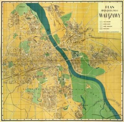 Map of the Capital City of Warsaw
