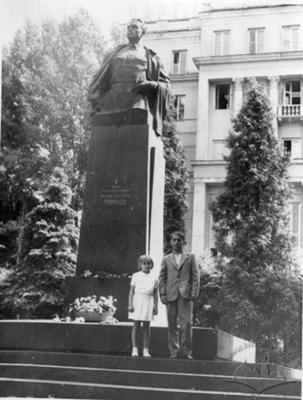 Portrait in The Front of Kuznietsov Monument