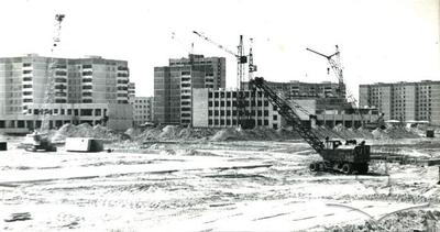 Panorama of the building process