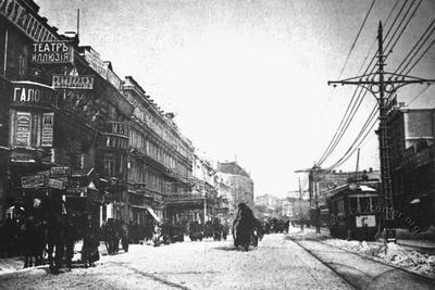 Khreshchatyk street in winter