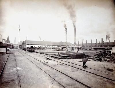 Склад рейок на Дніпровському заводі