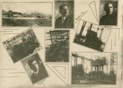 Lower Dnieper Pipe Rolling Plant. Photo collage