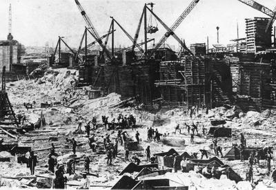 Construction of the Dnieper Hydroelectric Station