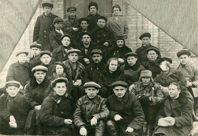 Members of the Komsomol (Communist Youth League) and the Communist Party employed at the Lower Dnieper Plant