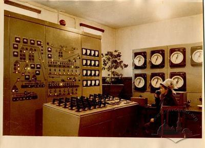 The plant control panel