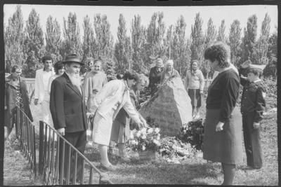 Покладання квітів до братської могили загиблих в роки Другої світової війни на святі Дня міста Красноармійська