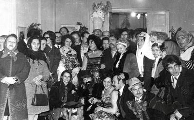 Collective picture of participants of Christmas carols in 1972